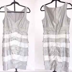 Gray and white London Times dress size 10